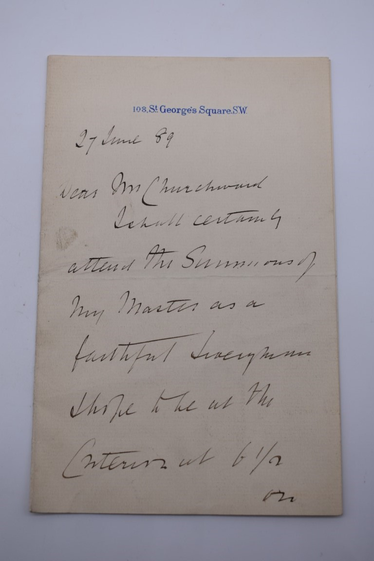 LETTERS AND AUTOGRAPHS, NAVAL AND MILITARY:collection of approx 30 items, late 18th-early 20thc, to - Image 28 of 51