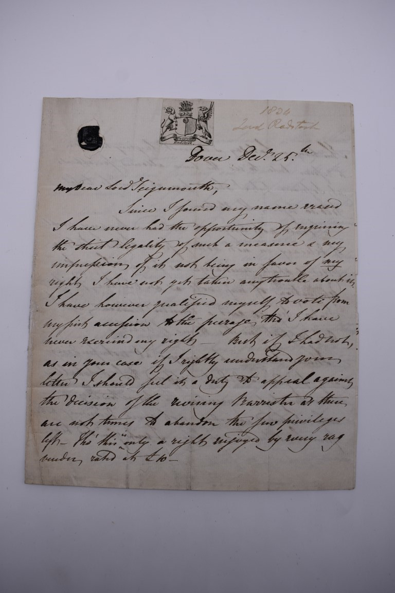 19TH CENTURY LETTERS & DOCUMENTS:two letters entire postmarked Penzance 1840, Buller family, - Image 2 of 23