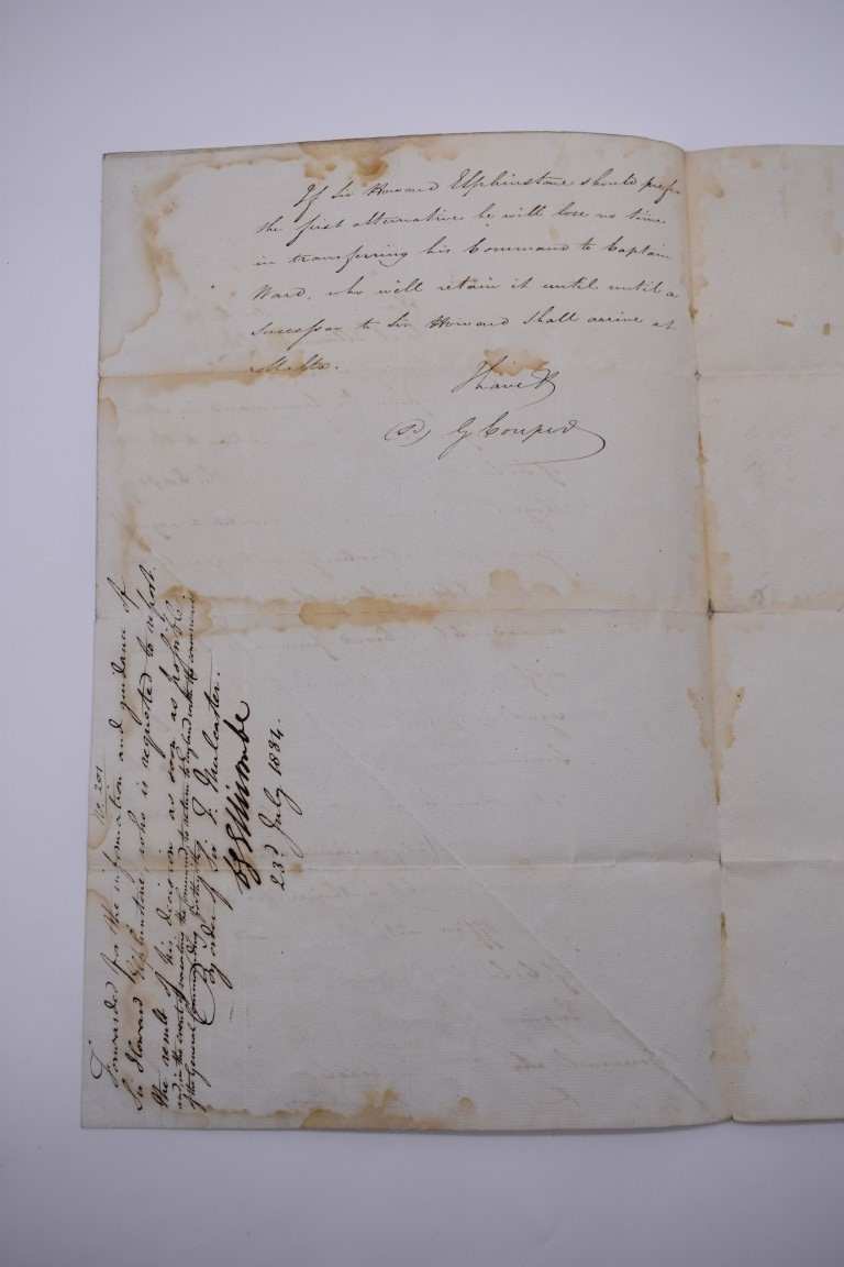NAVAL AND MILITARY DOCUMENTS:group of 8 manuscript documents, to include printed form with - Image 16 of 21