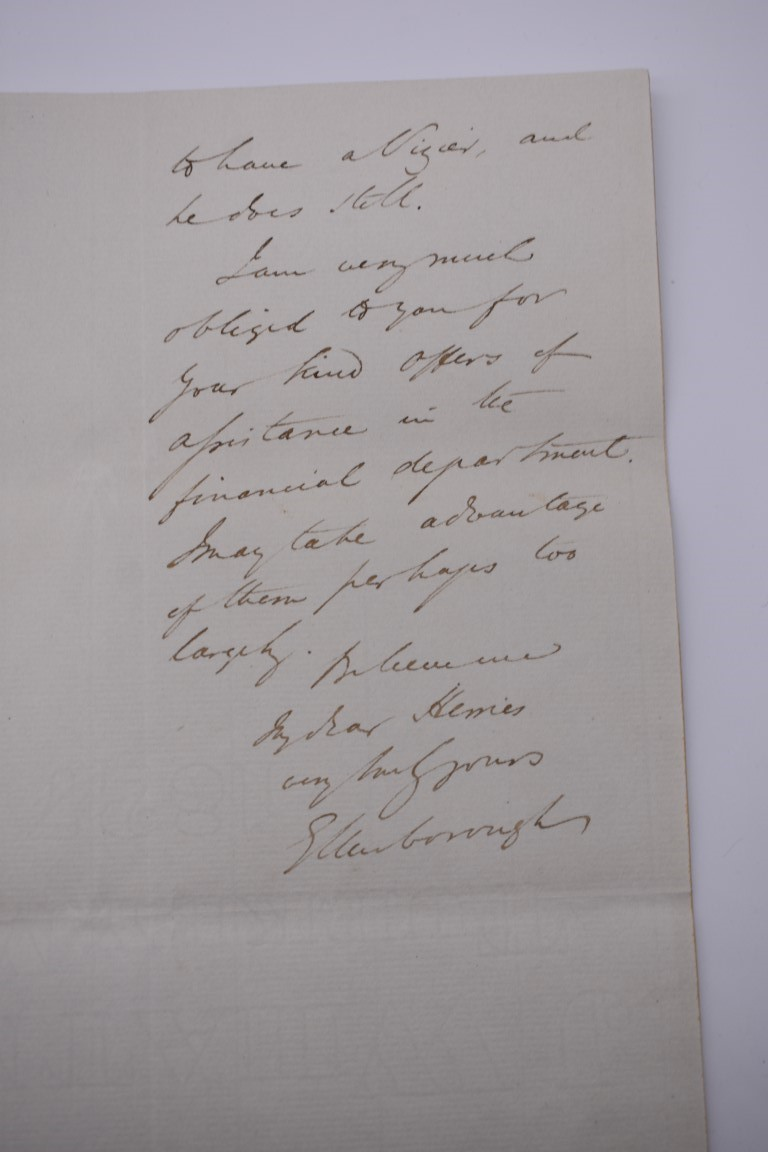 19TH CENTURY LETTERS & DOCUMENTS:two letters entire postmarked Penzance 1840, Buller family, - Image 13 of 23