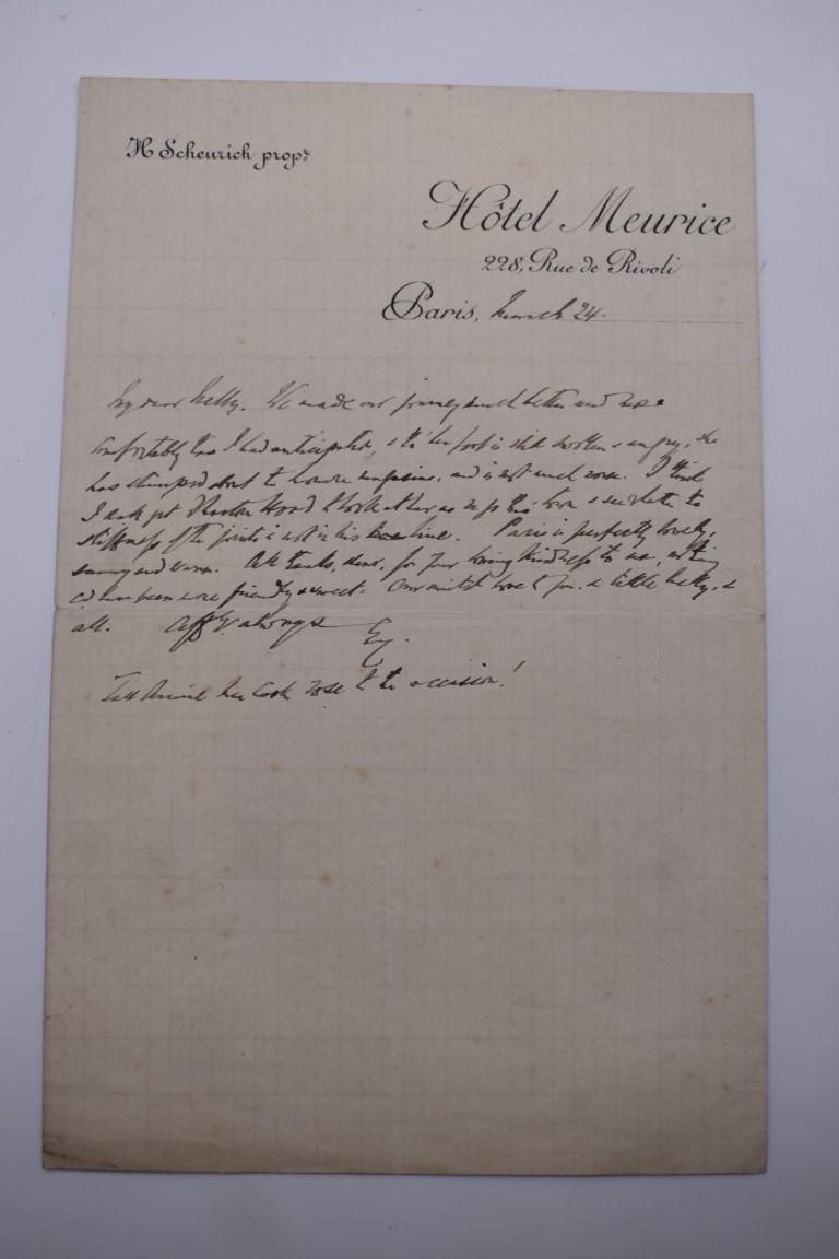 PASSPORT:French Empire passport allowing Victor Bouchard of Paris free passage, 8 June 1860, - Image 2 of 17