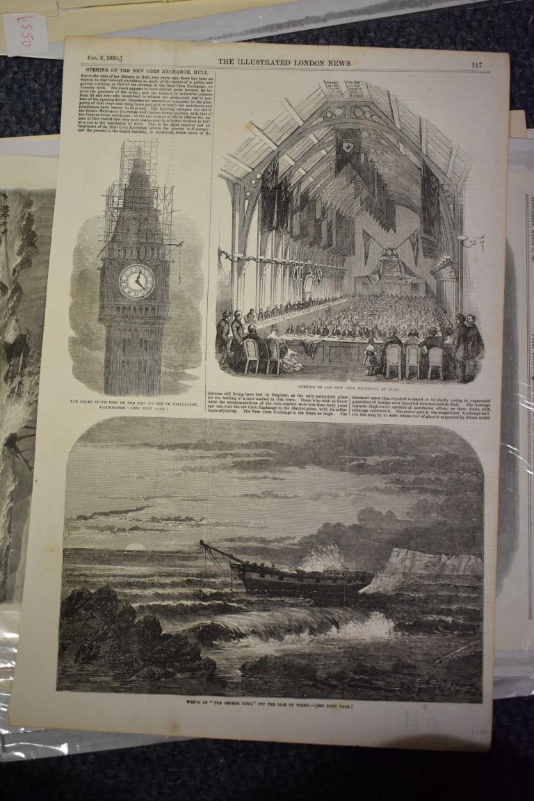 MARITIME ENGRAVINGS: SHIPWRECKS:collection of approx 50 prints and engravings, largely 18th-19th - Image 55 of 62