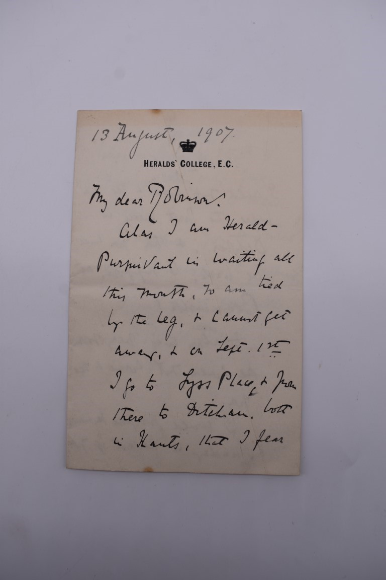 LETTERS:a collection of 20 items, largely letters late 19th-earlier 20thc, to include short one - Image 21 of 26