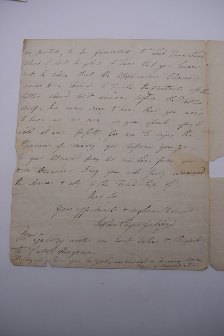 18TH CENTURY LETTERS:a group of 7 autograph letters signed, all English 18th century, to include - Image 5 of 14