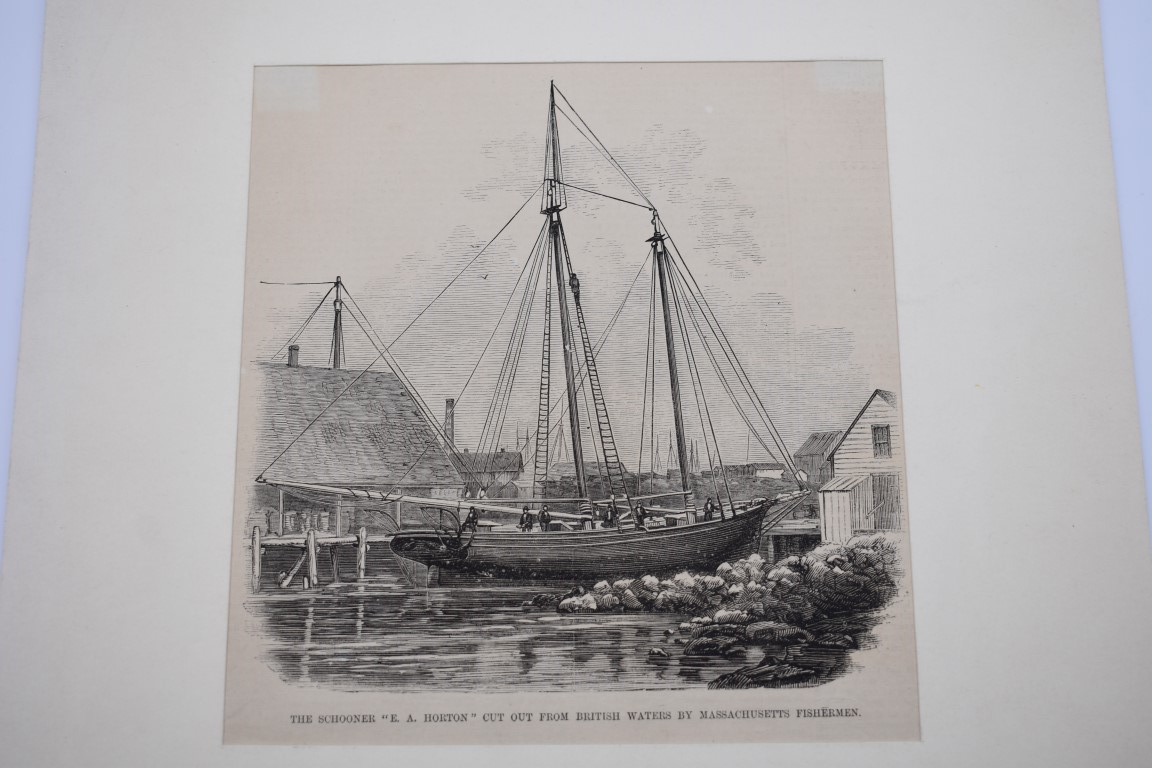 MARITIME PRINTS:collection of approx 61 maritime engravings and etchings, 18th-19th century, - Image 38 of 59