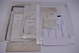 LETTERS:a collection of 20 items, largely letters late 19th-earlier 20thc, to include short one