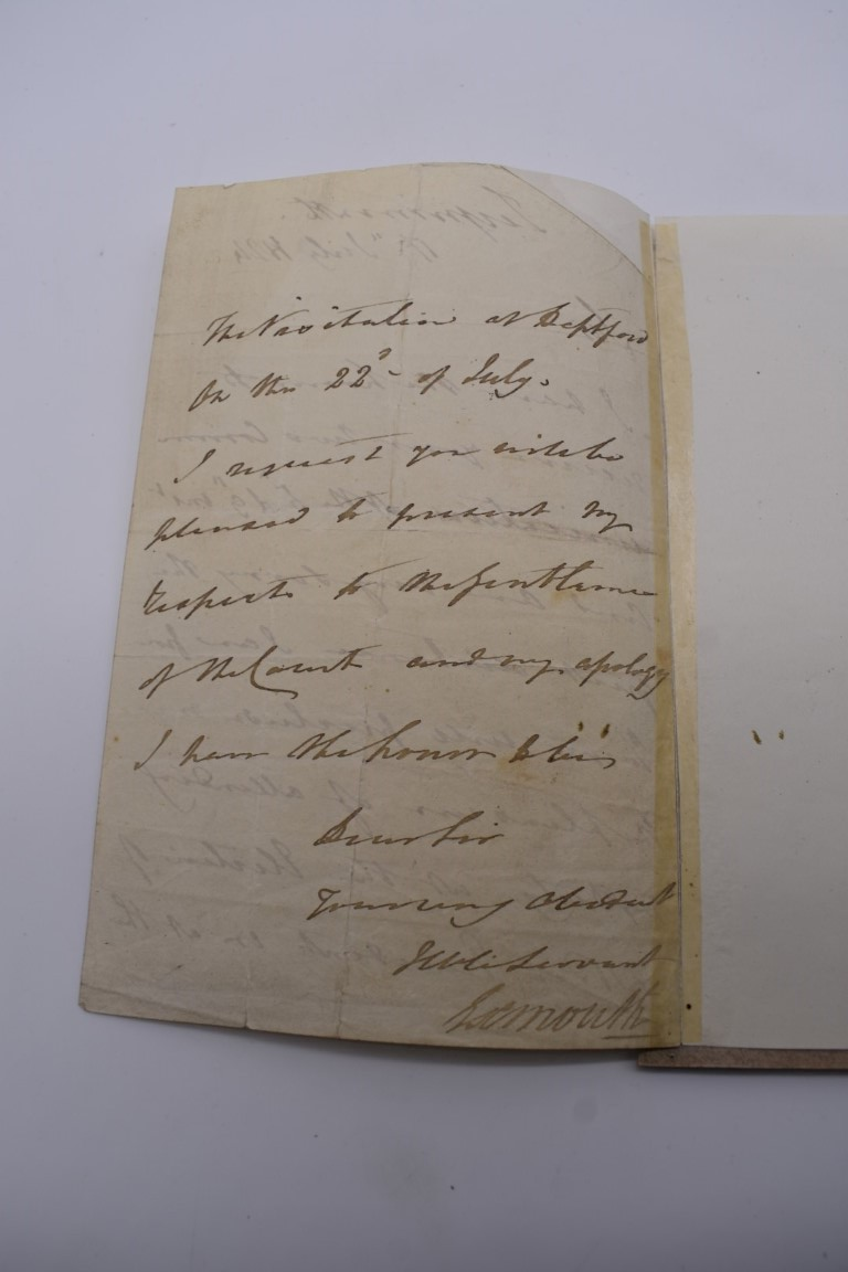 MANUSCRIPT MISCELLANY:a group of approx 27 items, largely 19thc ALS from nobility, churchmen, - Image 17 of 42