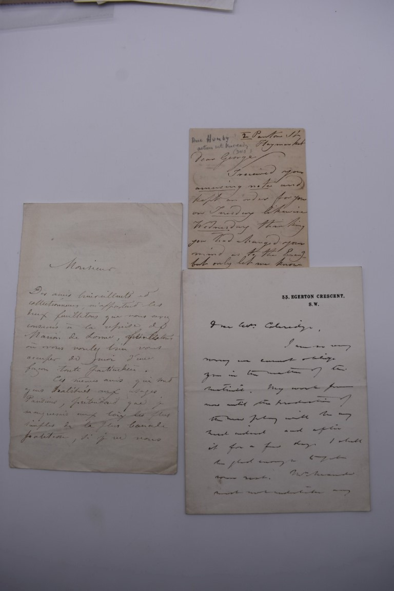 MANUSCRIPT MISCELLANY:collection of ALS and cut signatures, to include 2 side letter from conductor - Image 15 of 36