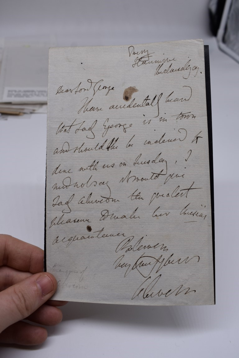 LETTERS AND AUTOGRAPHS, 19THC:collection of approx 33 ALS and cut autographs, largely 19th century - Image 20 of 46