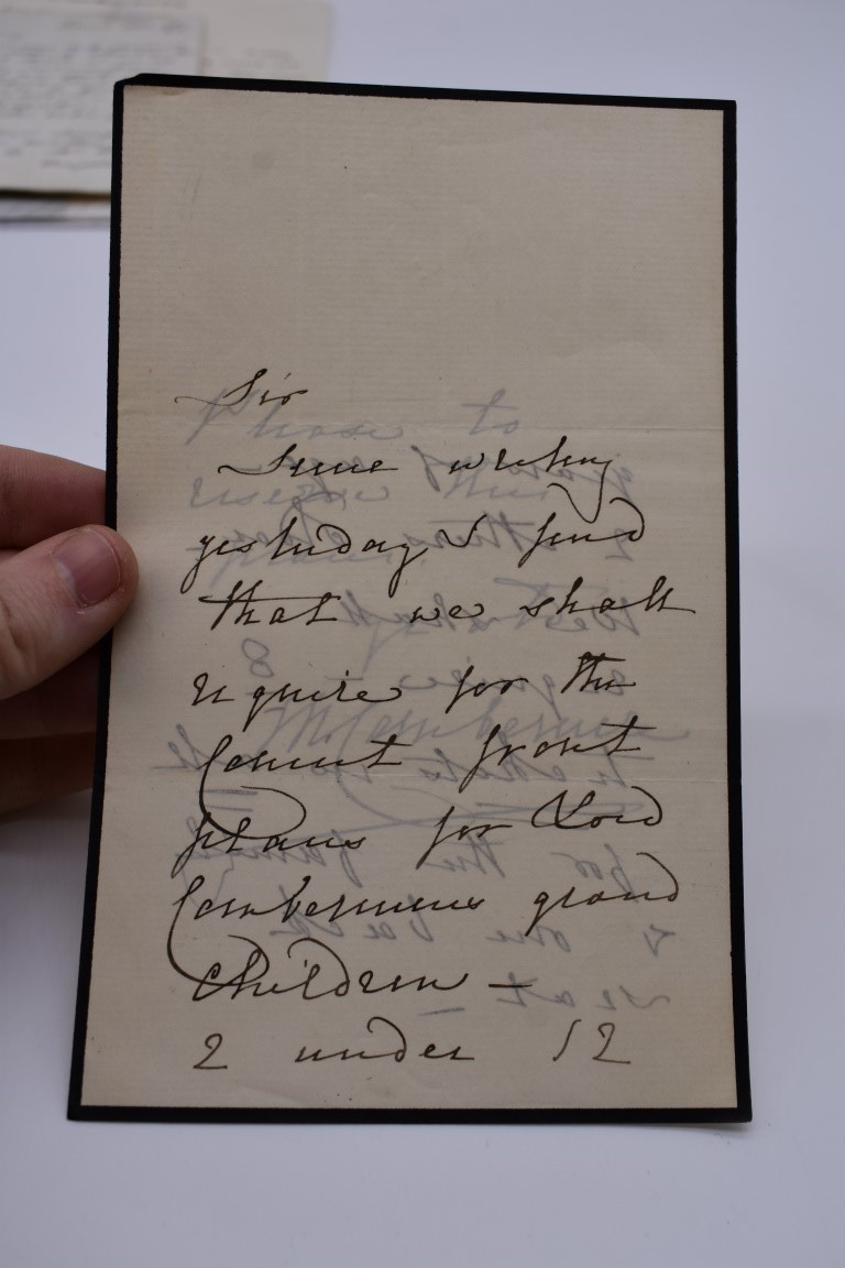 19TH CENTURY LETTERS & MANUSCRIPT:collection of approx 35 items, 19th century and a few later, - Image 43 of 53