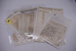 MANUSCRIPT MISCELLANY:collection of approx 18 items, manuscripts on paper, 17th to early 19th
