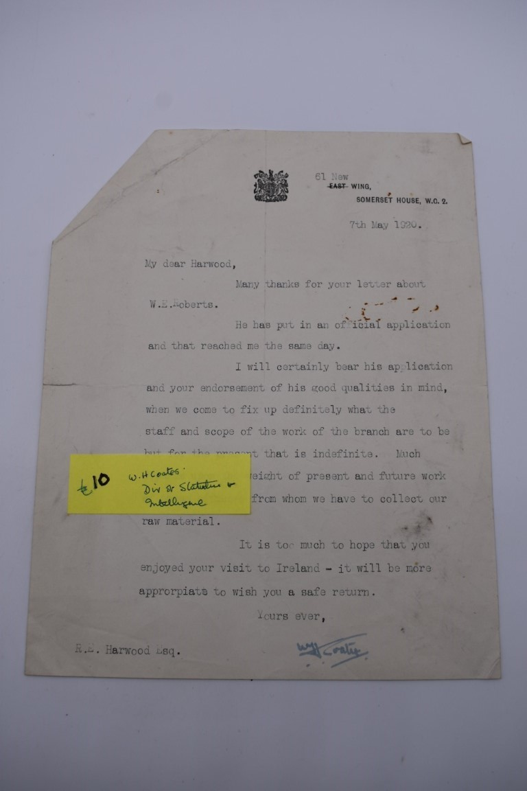 HARWOOD (Sir Ralph Endersby, 1883-1952):a small collection of typed and handwritten letters and - Image 6 of 9