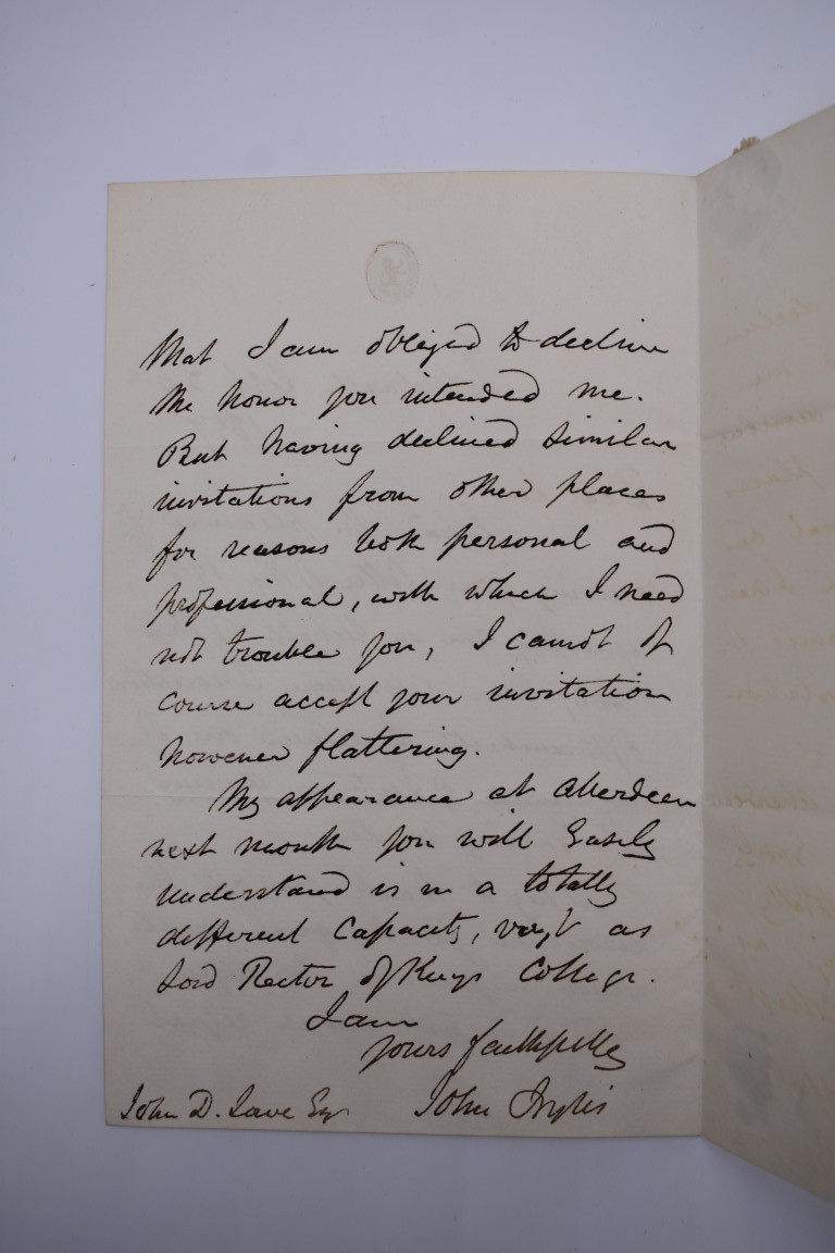 LETTERS AND AUTOGRAPHS, 19THC:collection of approx 33 ALS and cut autographs, largely 19th century - Image 39 of 46
