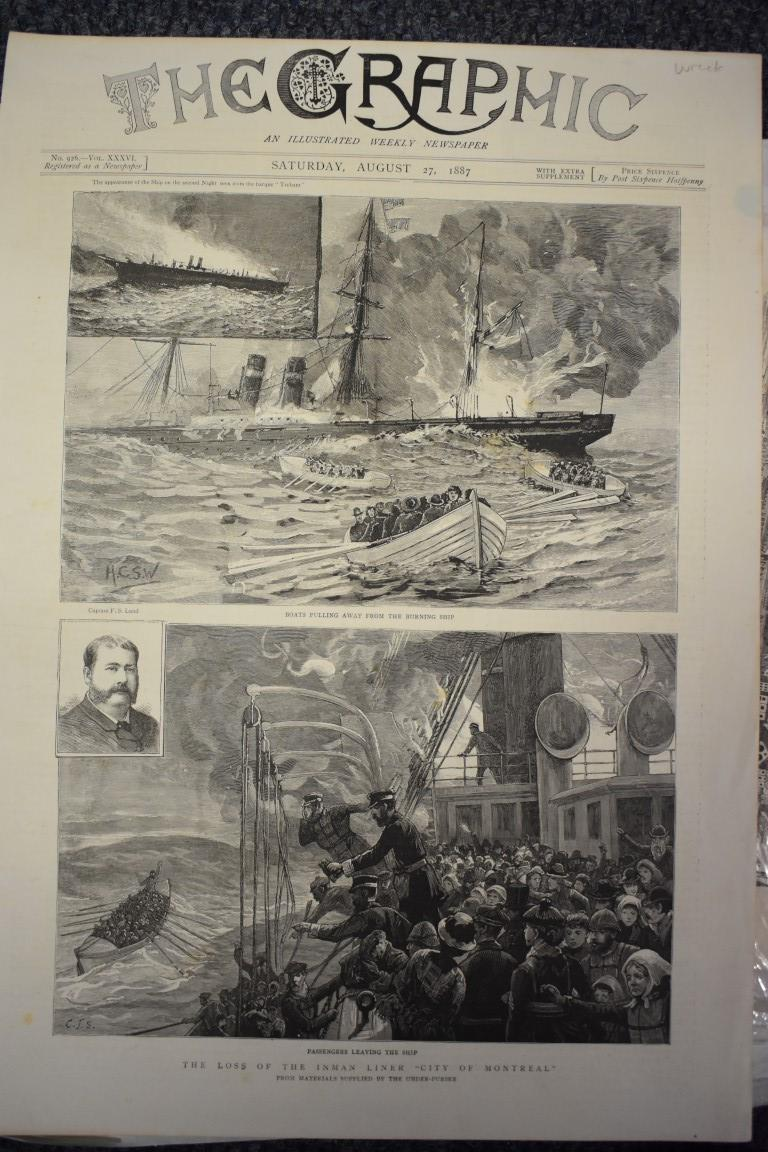 MARITIME ENGRAVINGS: SHIPWRECKS:collection of approx 50 prints and engravings, largely 18th-19th - Image 48 of 62