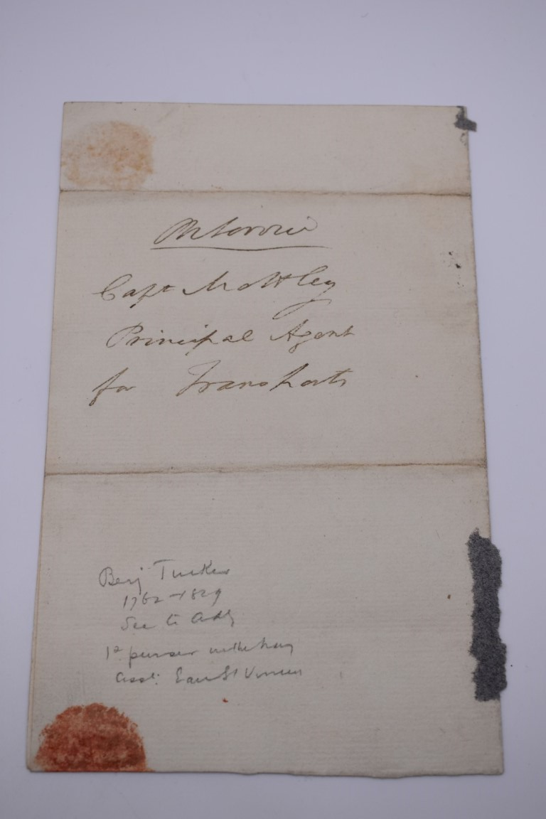 LETTERS AND AUTOGRAPHS, NAVAL AND MILITARY:collection of approx 30 items, late 18th-early 20thc, to - Image 51 of 51