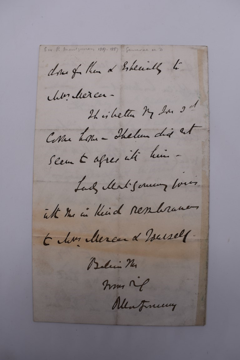 19TH CENTURY LETTERS & MANUSCRIPT:collection of approx 35 items, 19th century and a few later, - Image 3 of 53