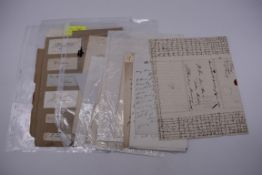 MANUSCRIPT MISCELLANY:collection of ALS and cut signatures, to include 2 side letter from conductor