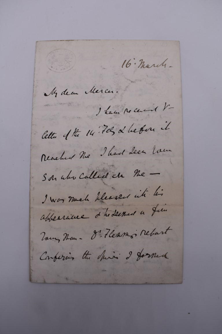 19TH CENTURY LETTERS & MANUSCRIPT:collection of approx 35 items, 19th century and a few later, - Image 2 of 53