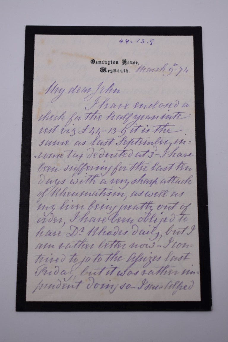 LETTERS AND AUTOGRAPHS, NAVAL AND MILITARY:collection of approx 30 items, late 18th-early 20thc, to - Image 15 of 51