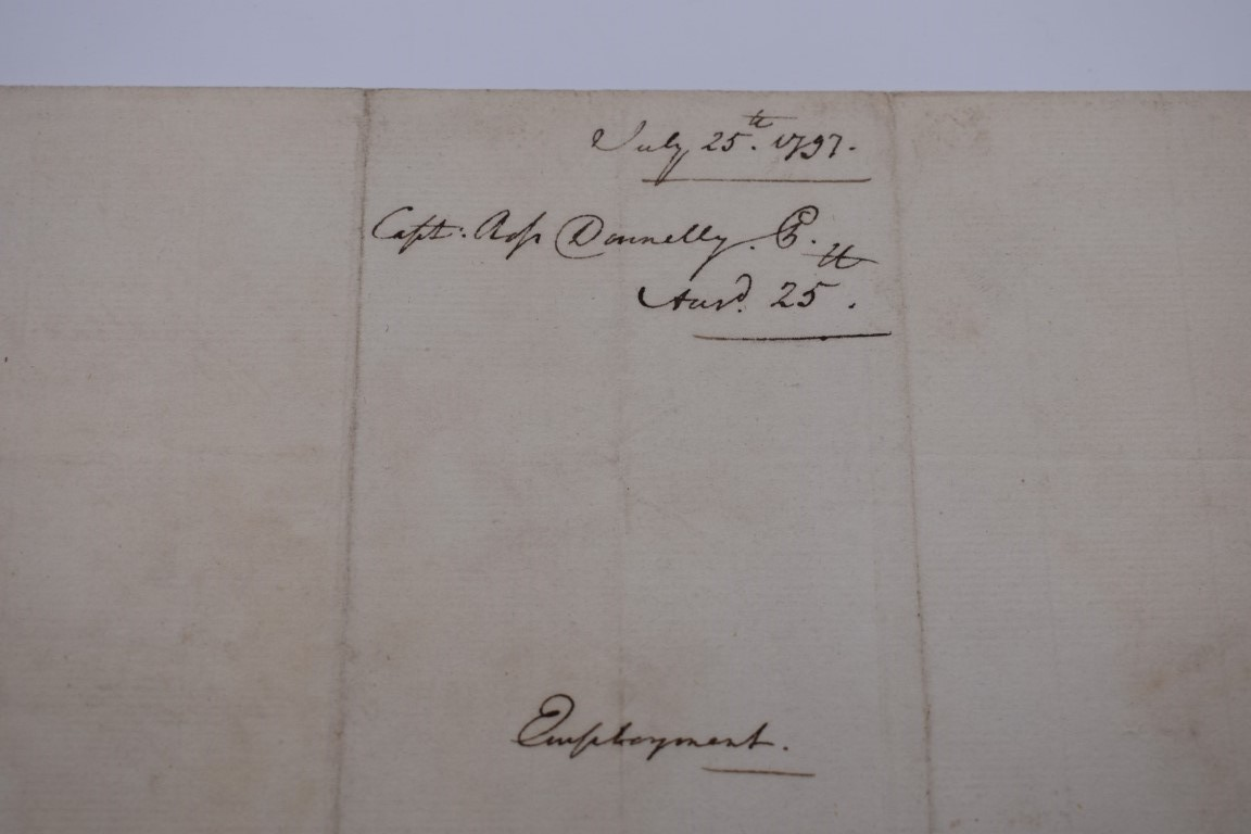 LETTERS AND AUTOGRAPHS, NAVAL AND MILITARY:collection of approx 30 items, late 18th-early 20thc, to - Image 41 of 51