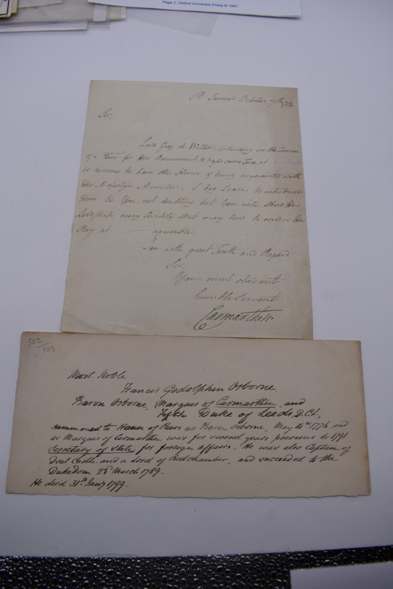 MANUSCRIPT MISCELLANY:a group of approx 27 items, largely 19thc ALS from nobility, churchmen, - Image 18 of 42