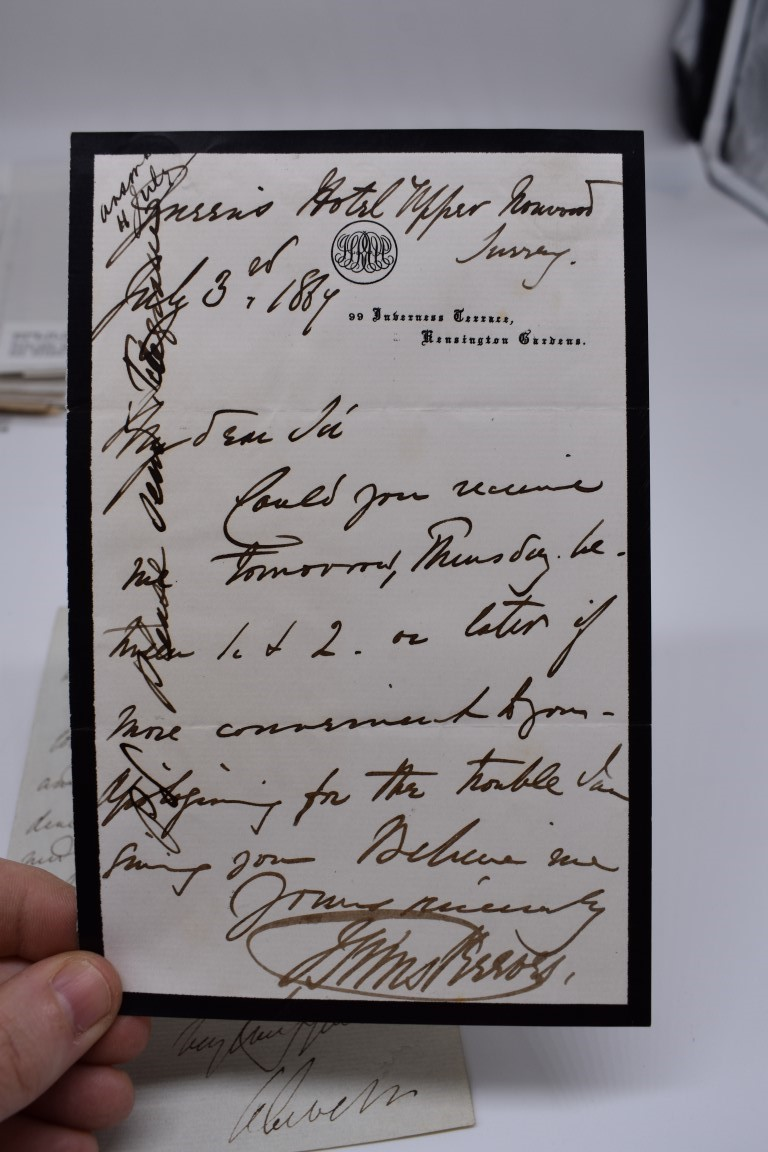 LETTERS AND AUTOGRAPHS, 19THC:collection of approx 33 ALS and cut autographs, largely 19th century - Image 21 of 46