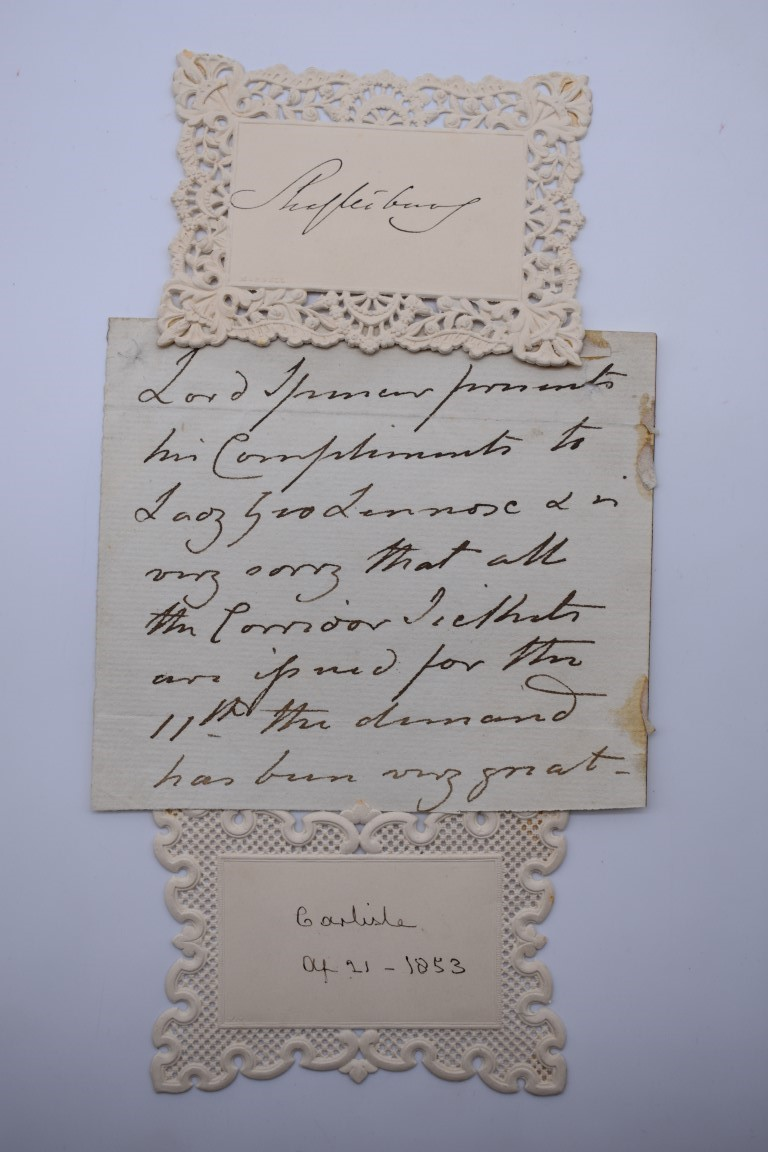 LETTERS & SIGNATURES:a quantity in bundle, largely 19th century nobility and political. (Small - Image 5 of 37