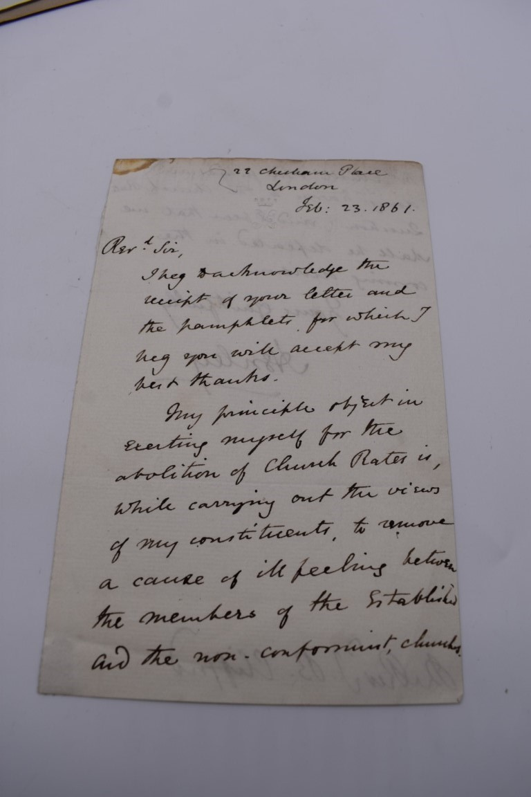 MANUSCRIPTS: a quantity of letters and cut signatures, largely 19th century. (A bundle) - Image 32 of 49