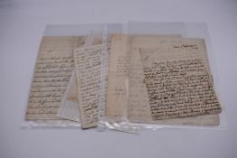 18TH CENTURY LETTERS:a group of 7 autograph letters signed, all English 18th century, to include