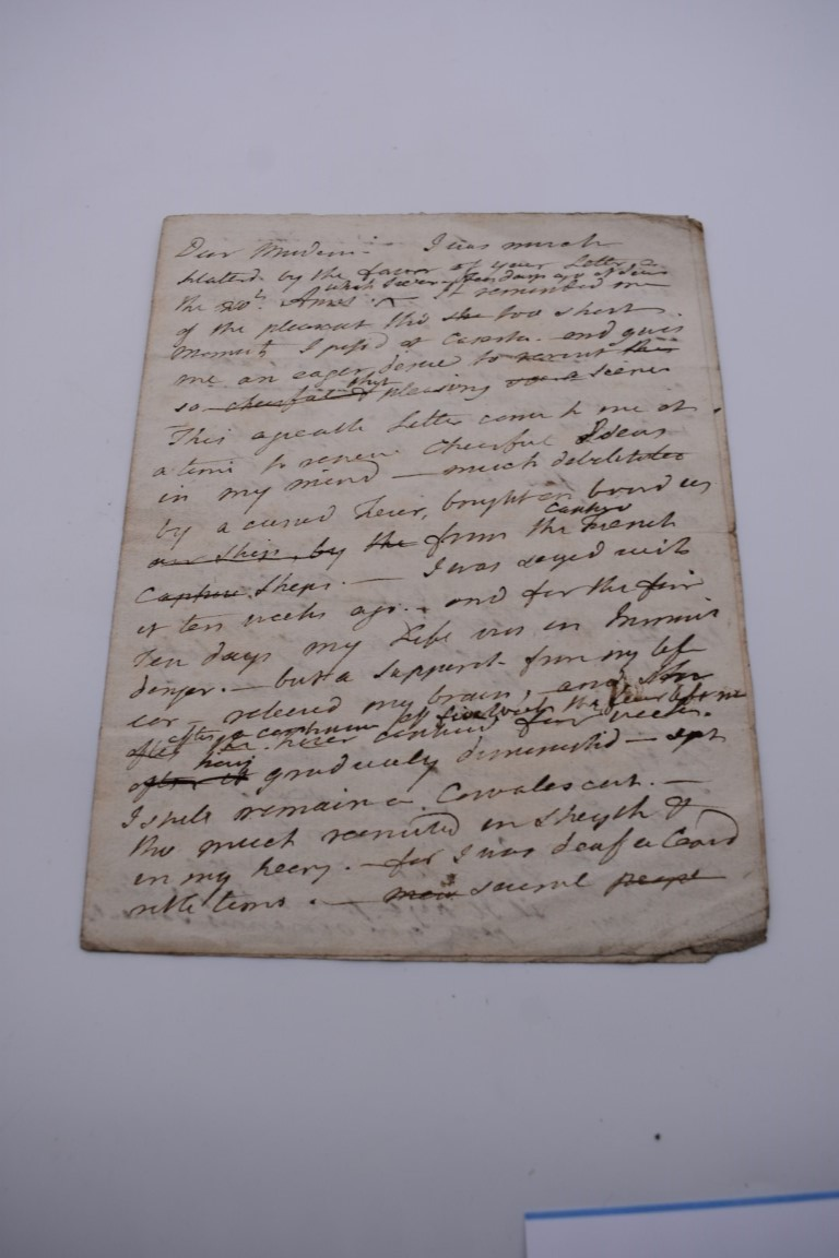 18TH CENTURY LETTERS:a group of 7 autograph letters signed, all English 18th century, to include - Image 7 of 14