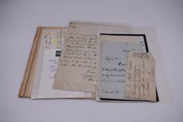 POLITICAL & NOBILITY, LETTERS:collection of 11 ALS and a few cut notes and autographs, late 18th-