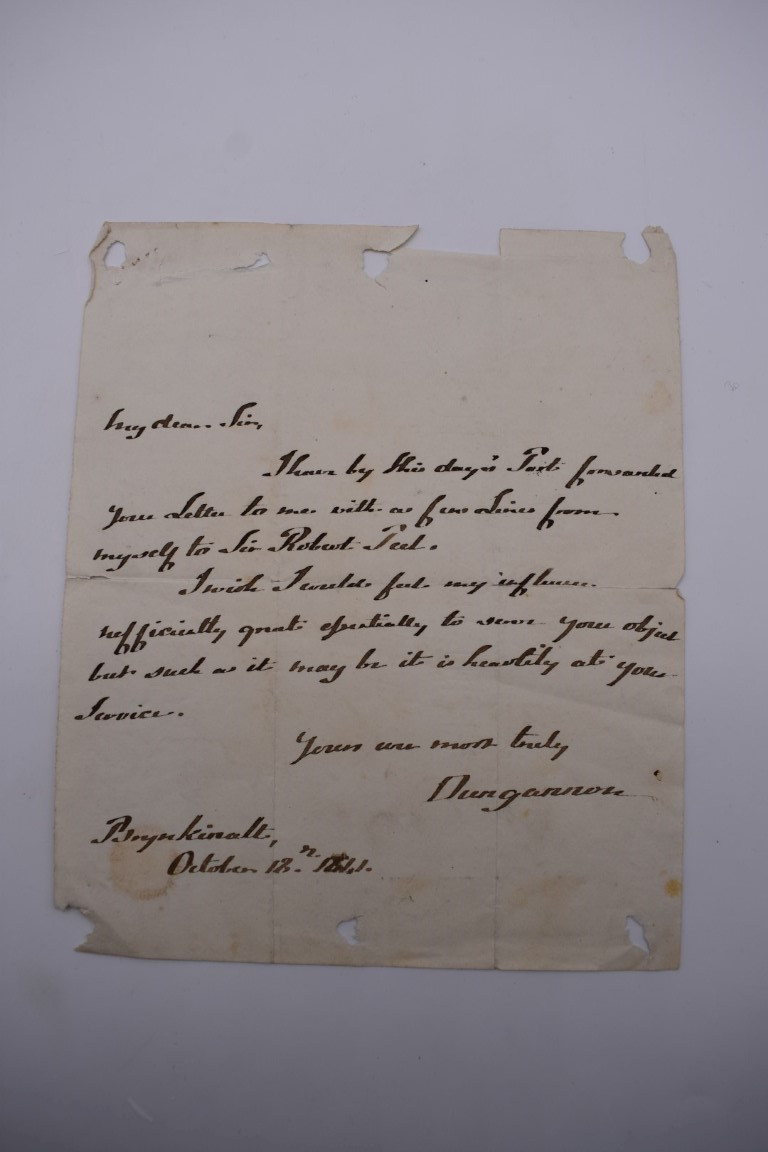 LETTERS, SIGNATURES, MANUSCRIPT MISCELLANY: a collection of over 45 items, largely 19th and early - Image 77 of 83