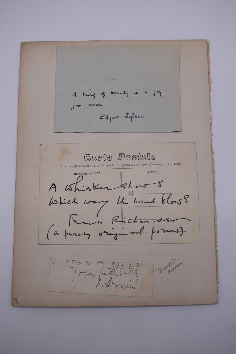 LETTERS:a collection of 20 items, largely letters late 19th-earlier 20thc, to include short one - Image 26 of 26