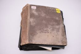 POSTCARD ALBUM:substantial vintage album containing approx 465 postcards, many World War I period