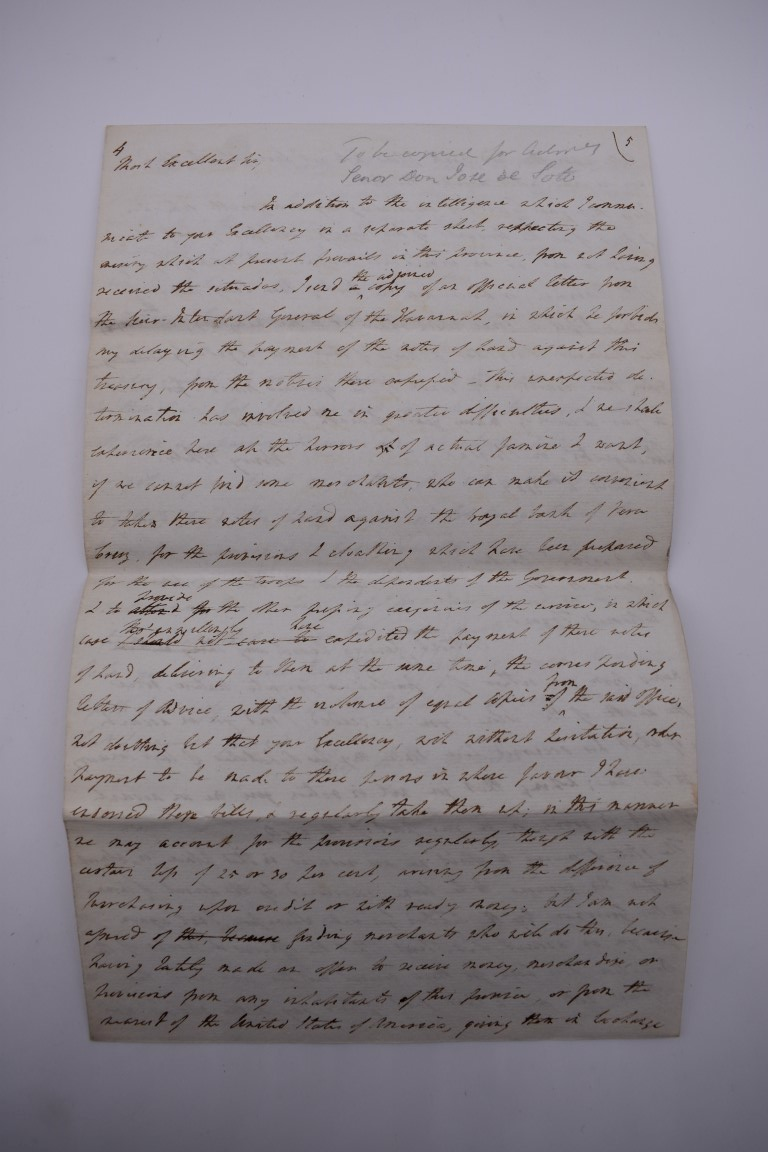 CUBA:contemporary manuscript translation of letter from Governor Henry White of Florida to - Image 5 of 10