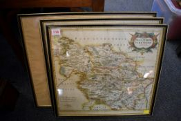 MORDEN (Robert):'The West Riding of Yorkshire...': original copper engraved map with hand-
