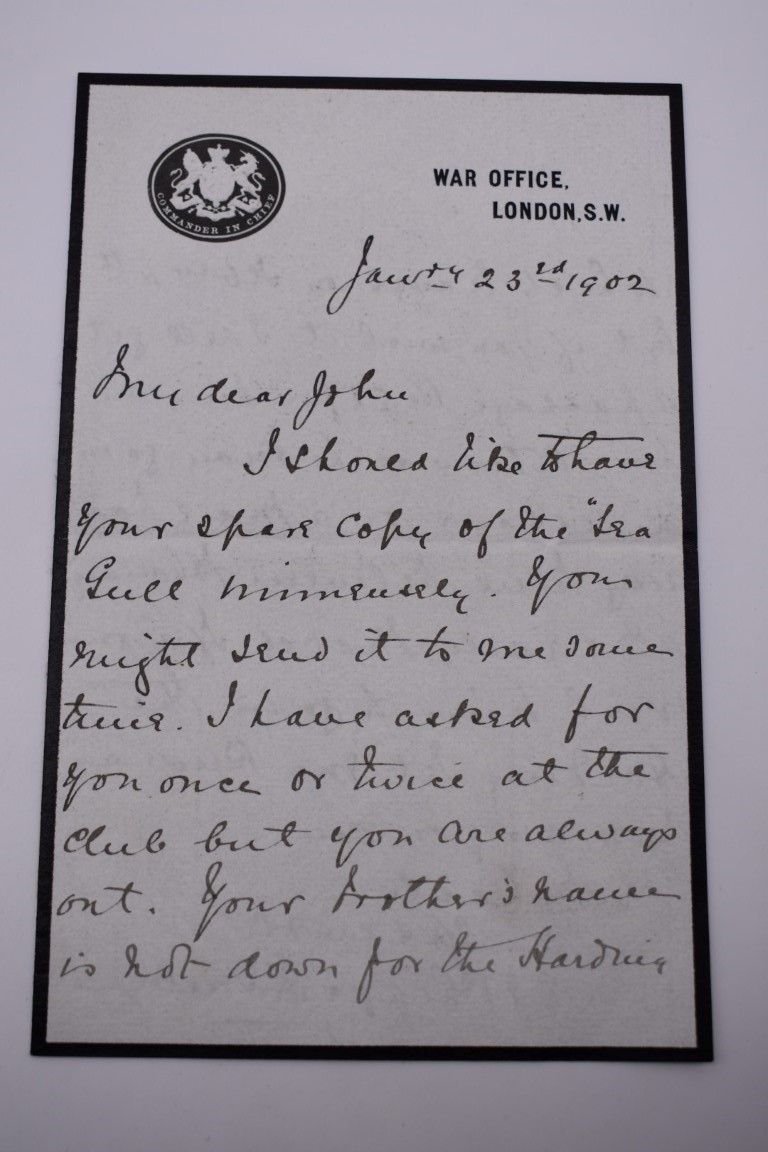LETTERS AND AUTOGRAPHS, NAVAL AND MILITARY:collection of approx 30 items, late 18th-early 20thc, to - Image 6 of 51