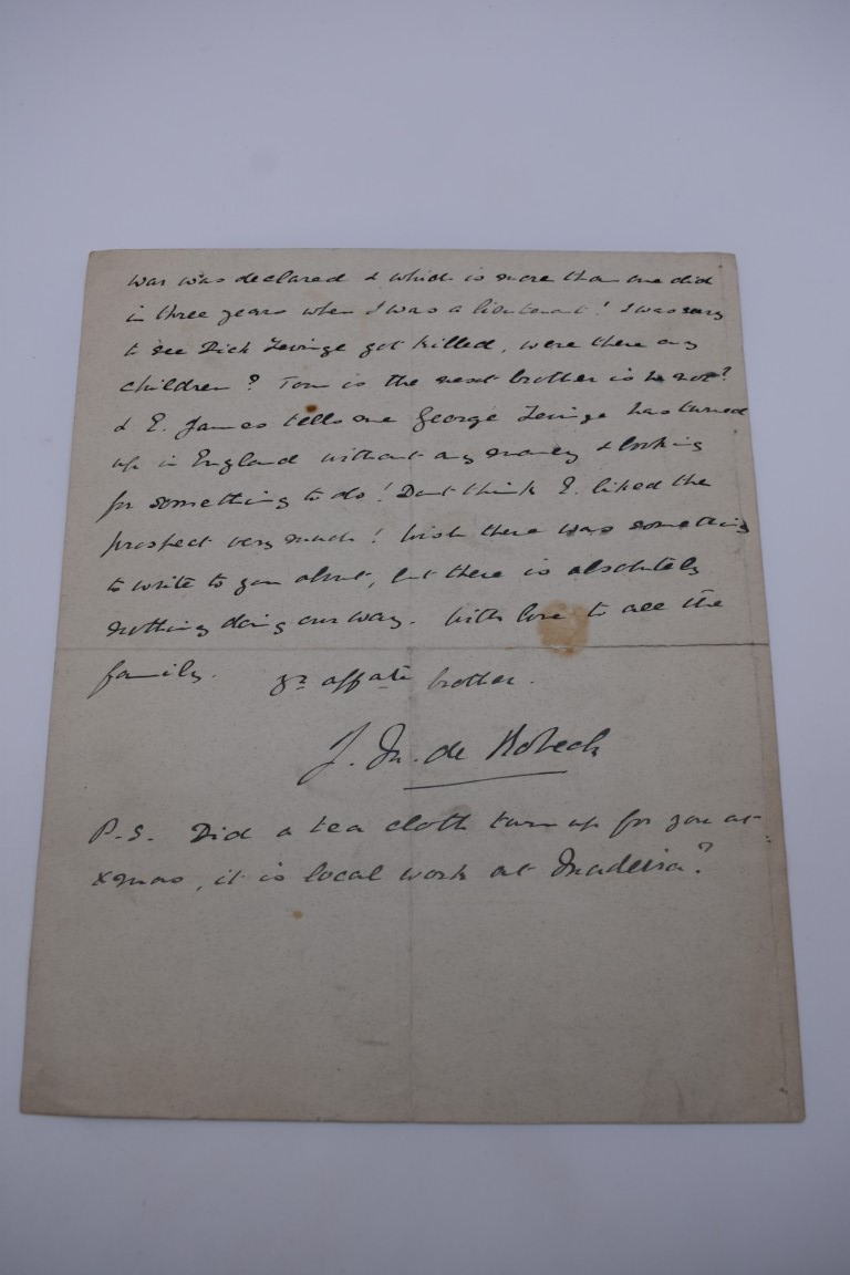 LETTERS AND AUTOGRAPHS, NAVAL AND MILITARY:collection of approx 30 items, late 18th-early 20thc, to - Image 43 of 51
