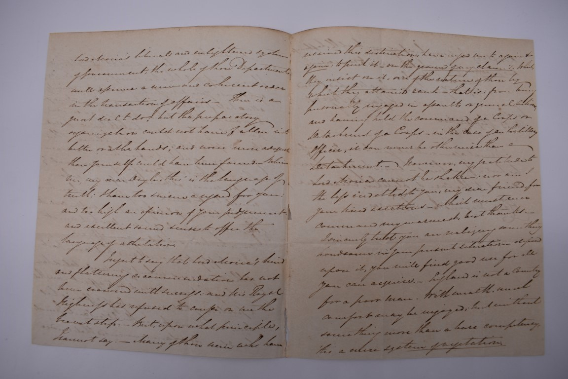 LETTERS, 18TH-19THC:collection of approx 13 items, to include 3 side ALS from the Earl of - Image 3 of 24