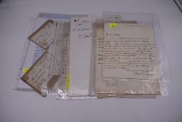 LETTERS, EARLY 19THC:collection of approx 20 ALS, largely early to mid 19thc, a few cropped or cut,