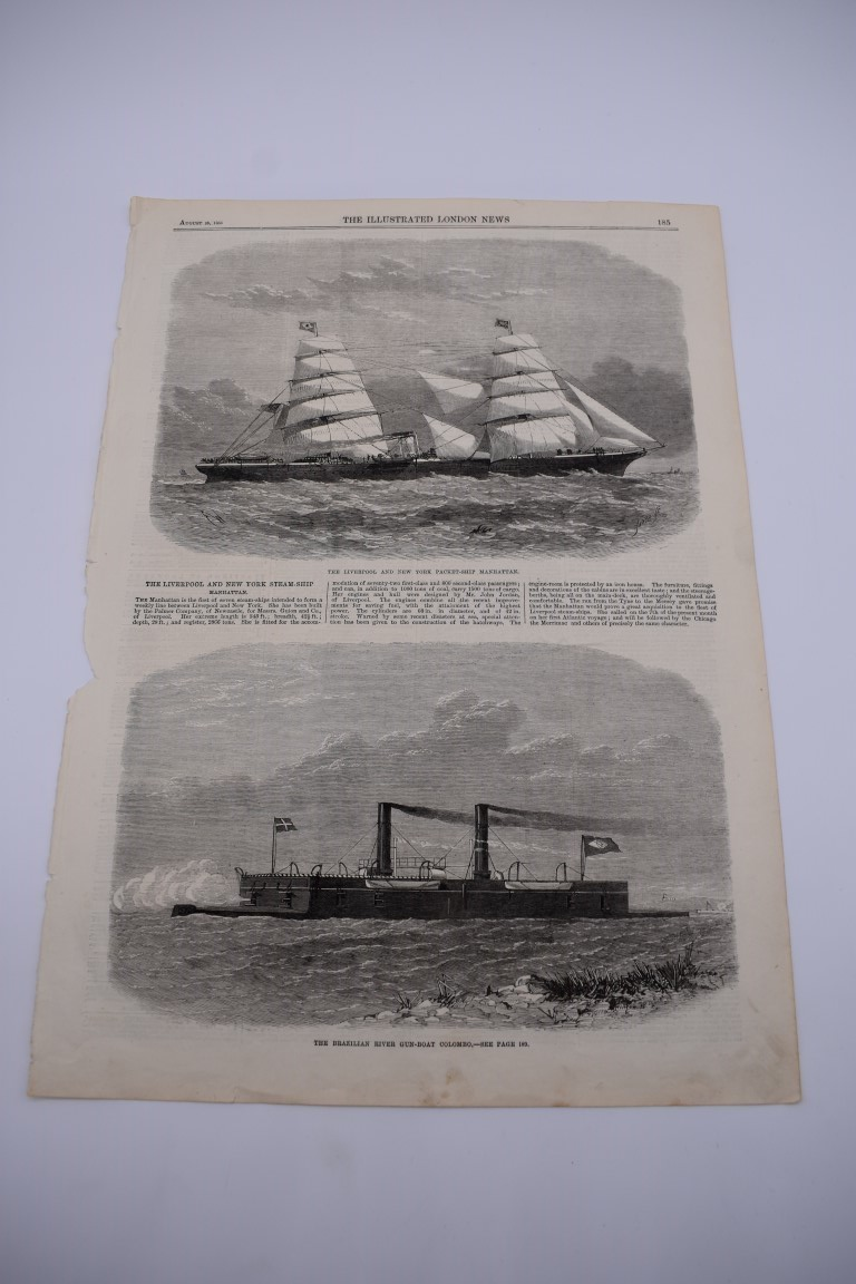 MARITIME PRINTS:collection of approx 61 maritime engravings and etchings, 18th-19th century, - Image 52 of 59