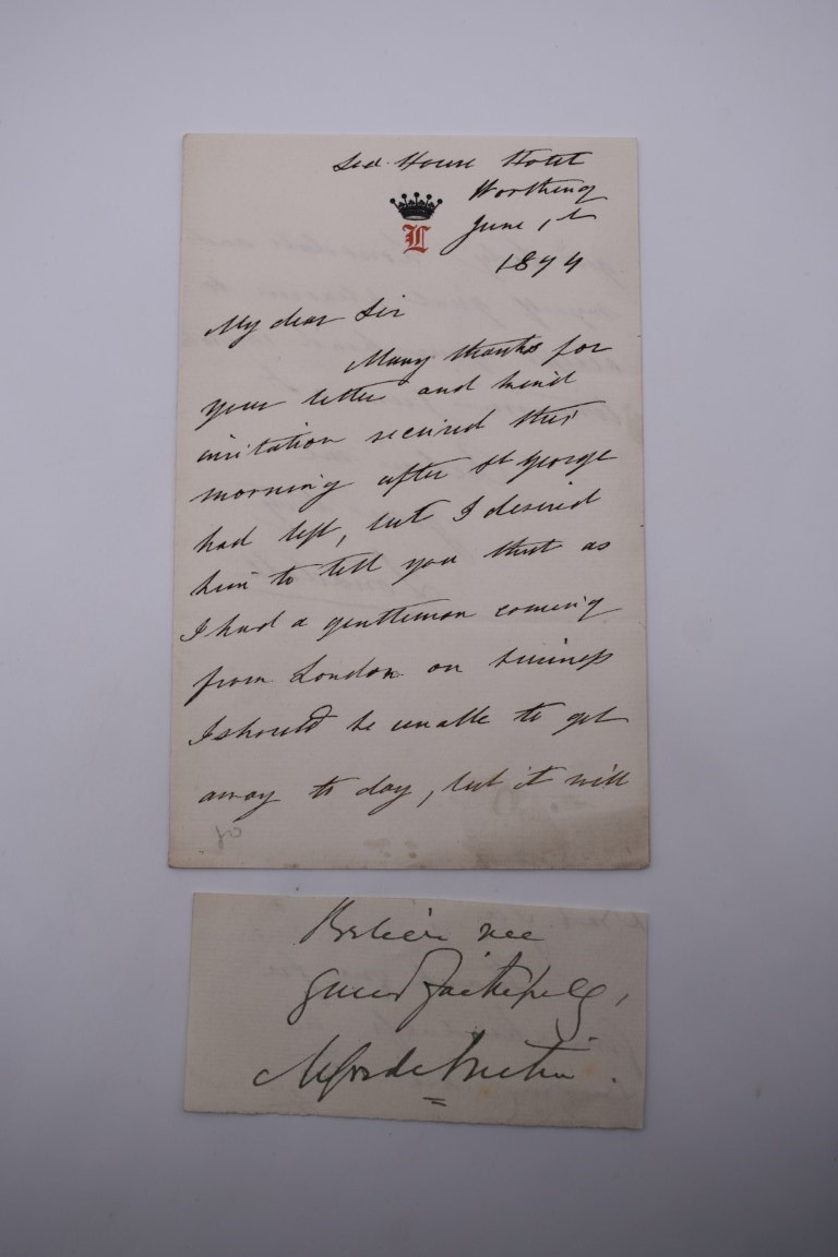MANUSCRIPT MISCELLANY:collection of ALS and cut signatures, to include 2 side letter from conductor - Image 12 of 36