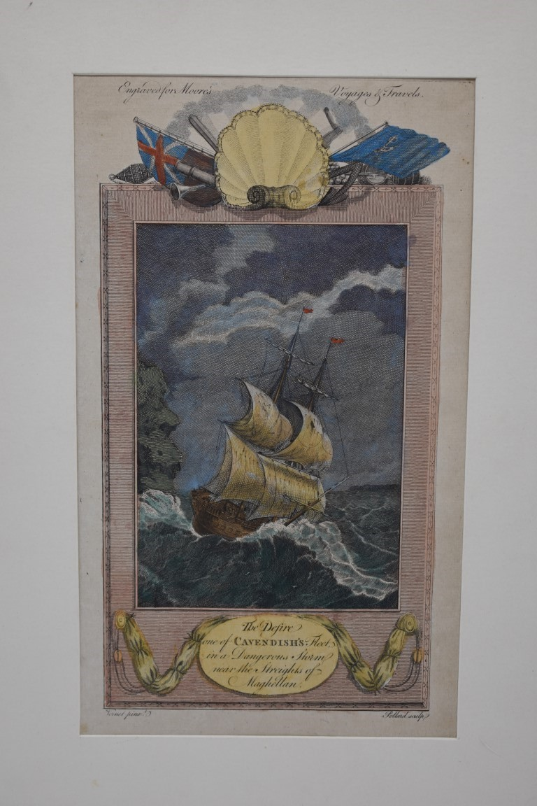 MARITIME PRINTS:collection of approx 61 maritime engravings and etchings, 18th-19th century, - Image 16 of 59