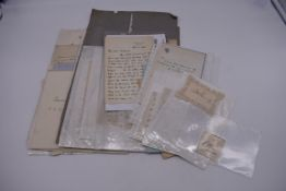 LETTERS & SIGNATURES:a quantity in bundle, largely 19th century nobility and political. (Small
