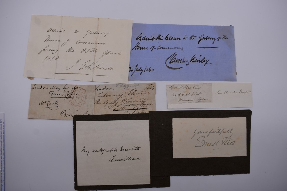 MANUSCRIPTS: a quantity of letters and cut signatures, largely 19th century. (A bundle) - Image 10 of 49