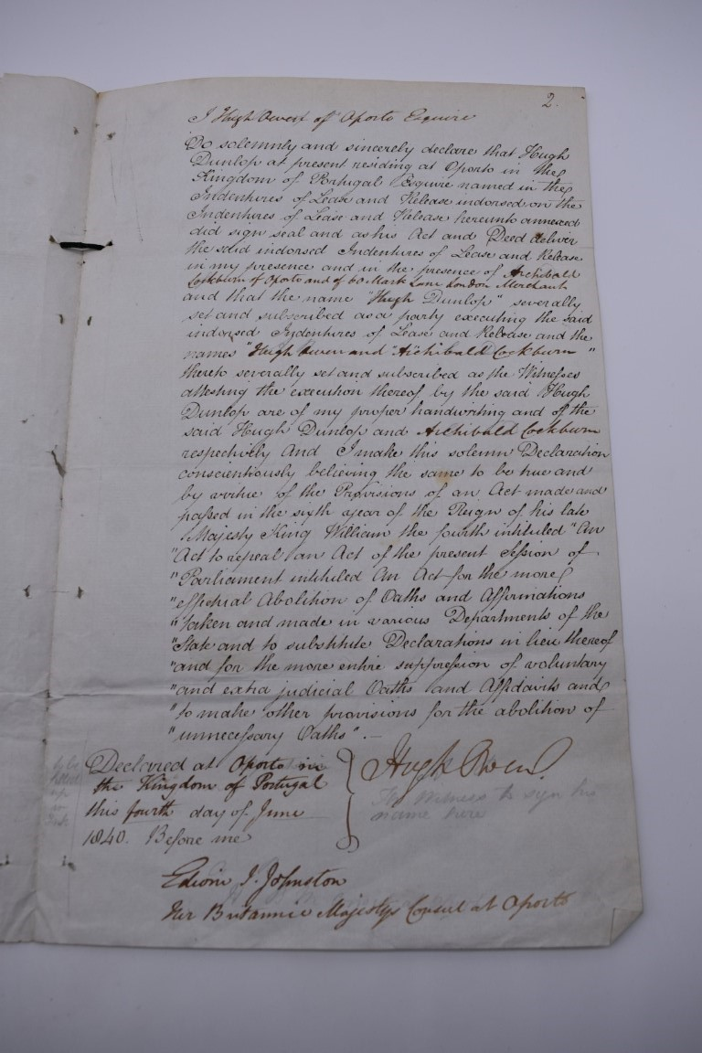 NORTHUMBERLAND MILITIA:commission for Peter Paxton, 10 January 1813 as Lieutenant in the Southern - Image 3 of 9