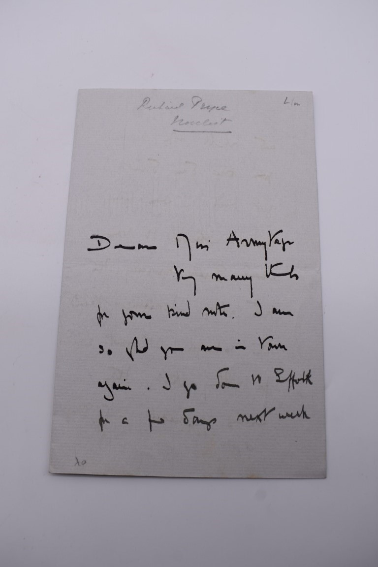 MANUSCRIPT MISCELLANY:collection of ALS and cut signatures, to include 2 side letter from conductor - Image 21 of 36