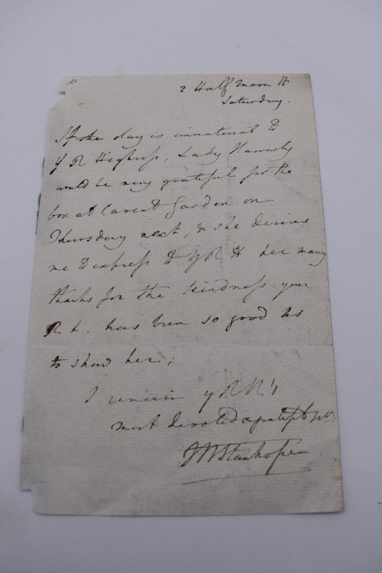 MANUSCRIPT MISCELLANY:a group of approx 27 items, largely 19thc ALS from nobility, churchmen, - Image 35 of 42