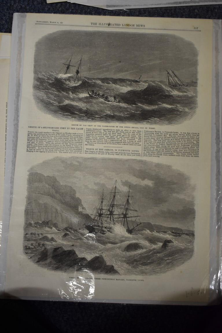 MARITIME ENGRAVINGS: SHIPWRECKS:collection of approx 50 prints and engravings, largely 18th-19th - Image 56 of 62