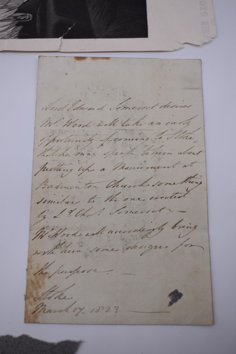 LETTERS AND AUTOGRAPHS, NAVAL AND MILITARY:collection of approx 30 items, late 18th-early 20thc, to - Image 47 of 51